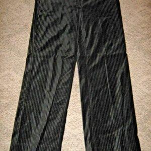 Black Velvet Silver Metallic Stripes Wide Leg Pant